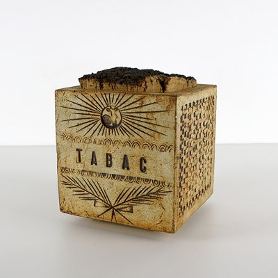 Roger Capron Tabacco Box by Vallauris, France 1950s