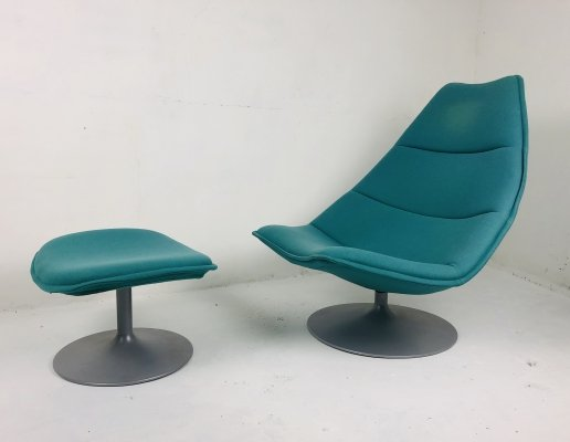 'F585' Lounge Chair with Ottoman by Geoffrey Harcourt for Artifort, 1960s