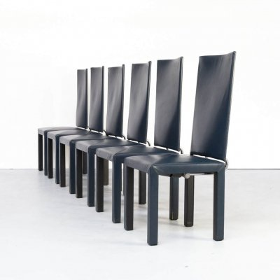 Set of 6 Paolo Piva 'Arcadia' dining chairs for B & B Italia, 1990s