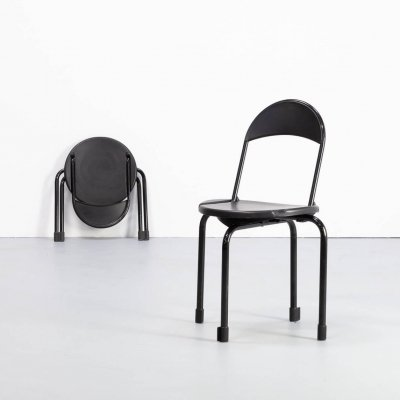 Pair of Paolo Orlandini & Roberto Lucci 'Clark CK3' folding chairs for Lamm, 1980s