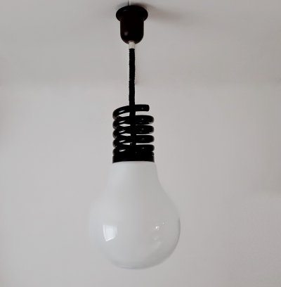 Giant Bulb hanging lamp by Lamperti, 1970s
