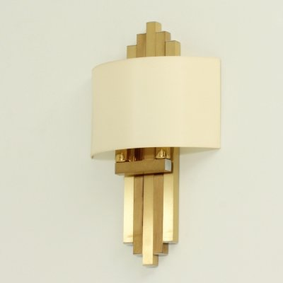 Large Brass Sconce by BD Lumica, Spain
