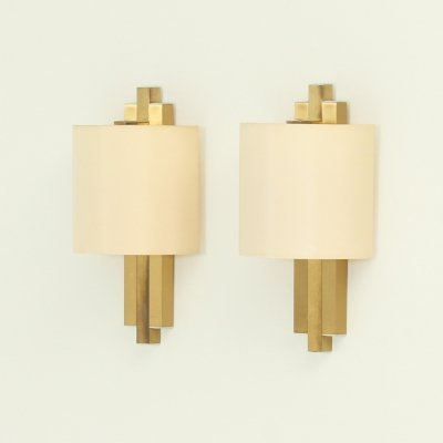 Pair of Brass Sconces by BD Lumica, Spain