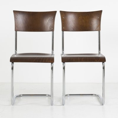 Set of two S43 Cantilever chairs by Mart Stam for Thonet, 1940's
