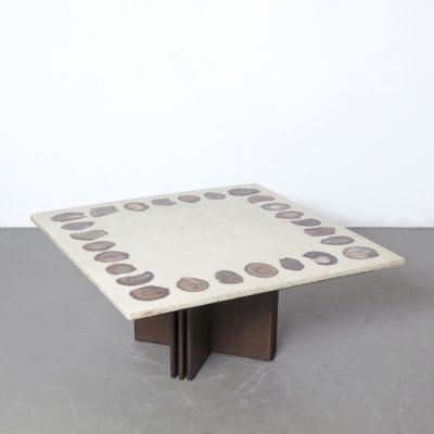 Coffee Table terrazzo with agate inlays, 1970s