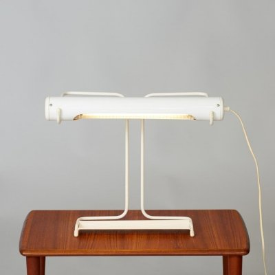 White metal desk lamp, 1980's