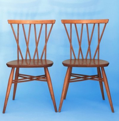 Set of 2 Candlestick Chairs by Lucian Ercolani for Ercol