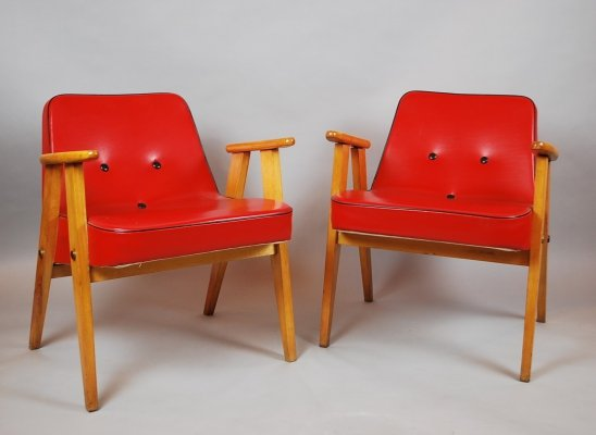 Pair of Modèle 366 arm chairs by Jozef Marian Chierowski, 1960s