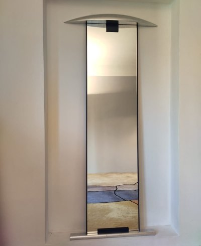 Large 'Pauline' wall mirror by Enrico Baleri for Baleri Italia, 1984