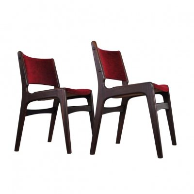 Set of two Danish Modern dining chairs by Erik Buch