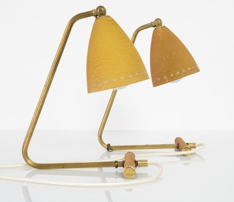 Pair of Swedish table lamps, 1950s