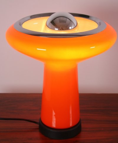 Italian table lamp in colored glass, 1960s