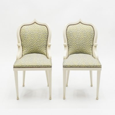 Rare pair of Garouste & Bonetti 'Palace' dining chairs, 1980