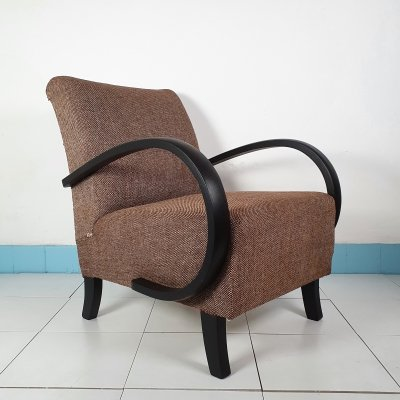 Pair of Halabala C lounge Armchairs, 1960s