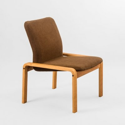 Swedish armchair in teak & wool by Kinnarps, 1960's