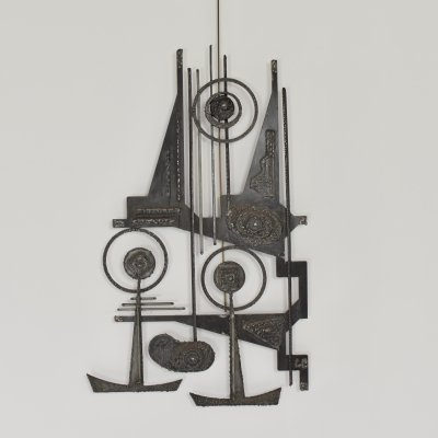 Abstract brutalist sculpture made out of iron, Belgium 1950's