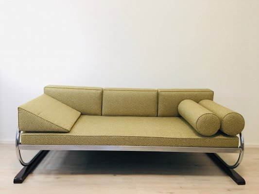 Bauhaus Tubular Steel Sofa for Robert Slezak, 1930s