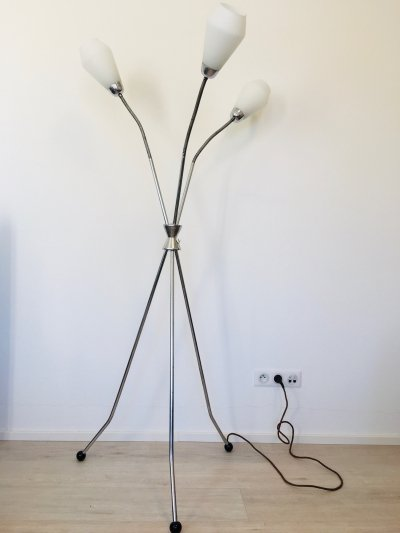 Czechoslovakian Floor Lamp from Lidokov, 1960s