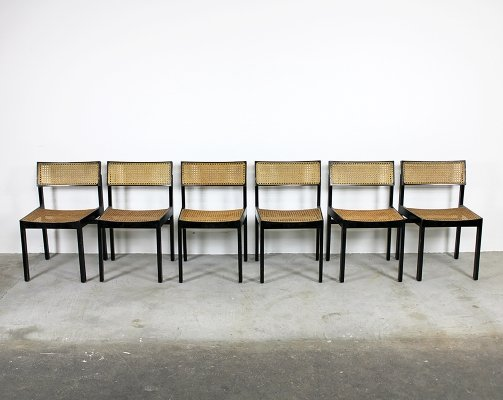 Set of six Willy Guhl dining chairs, Switzerkand 1960s