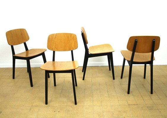 Set of 4 dining chairs by Wohnhilfe, Switzerland 1950s