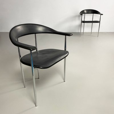 'P40' Dining Chair by Vegni & Gualtierotti for Fasem, Italy c.1980