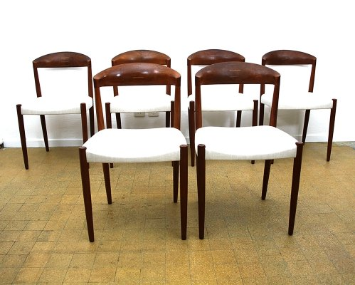 Set of 6 Teak dining chairs by Knud Andersen, Denmark 1960s