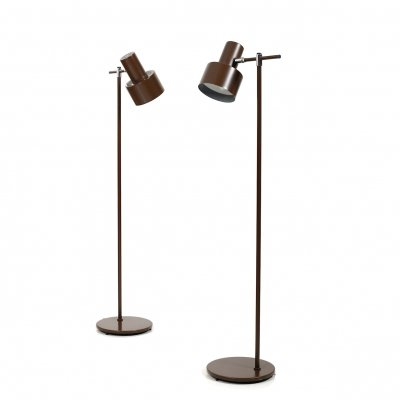 Pair of Studio Floorlamps by Jo Hammerborg for Fog & Mørup, 1960s
