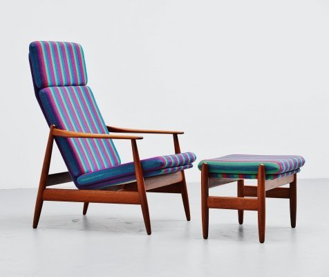 Poul Volther lounge chair by Frem Røjle Denmark, 1960