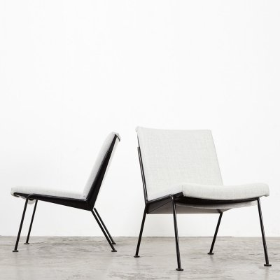 Wim Rietveld Pair of Oase Easy Chairs for Ahrend de Cirkel, 1958