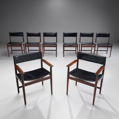 Set of 8 Kurt Østervig Dining Chairs for Sibast, Denmark 1960s