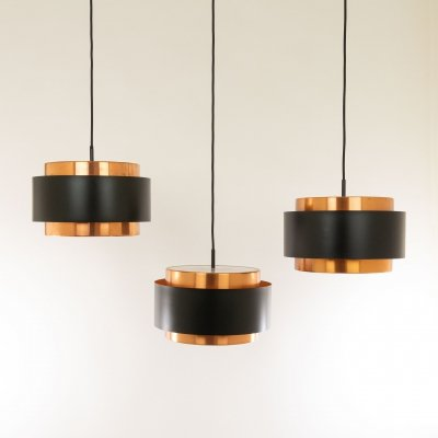 Three Saturn pendants by Jo Hammerborg for Fog & Mørup