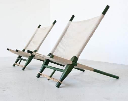Pair of 'Saw' lounge chairs by Ole Gjerlov Knudsen for Cado, Denmark 1958
