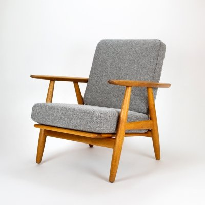 Solid Oak Cigar Chair by Hans J Wegner for Getama, Denmark 1950s