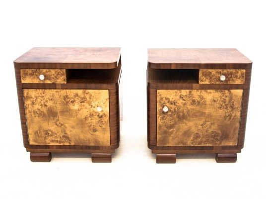 Art Deco Bedside tables, 1950s