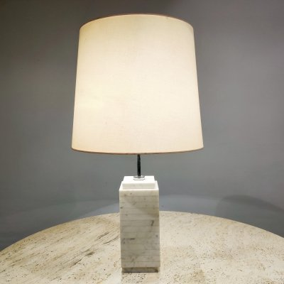 White marble table lamp by Florence Knoll, 1960s