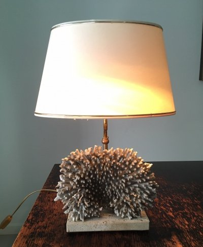 Coral table lamp, 1970s
