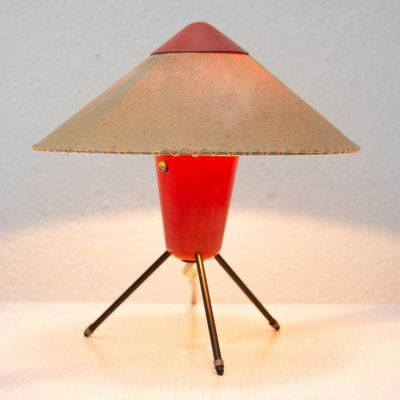 Czech modernist tripod desk lamp by Helena Frantova for Okolo, Czechoslovakia