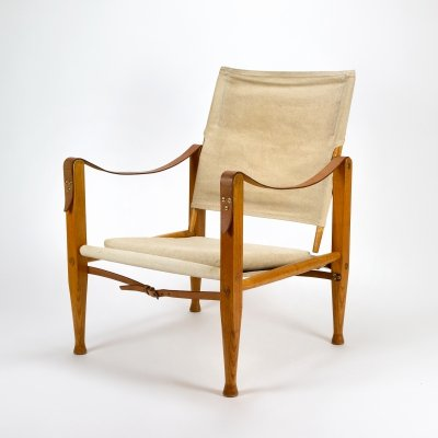 Kaare Klint Canvas Safari Chair, Denmark 1950s