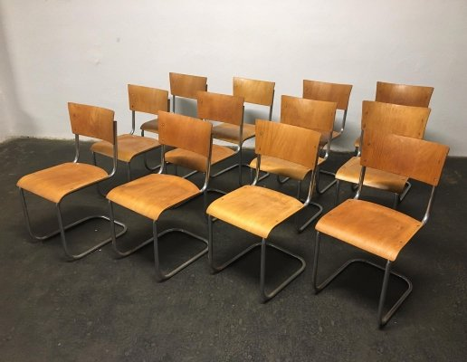 Set of 12 dining chairs by Mart Stam for Kovona NP, 1960s