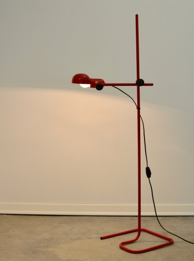 Red floor lamp, 1980s