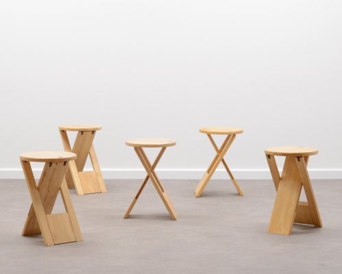 TS folding stool by Roger Tallon for Sentou, France