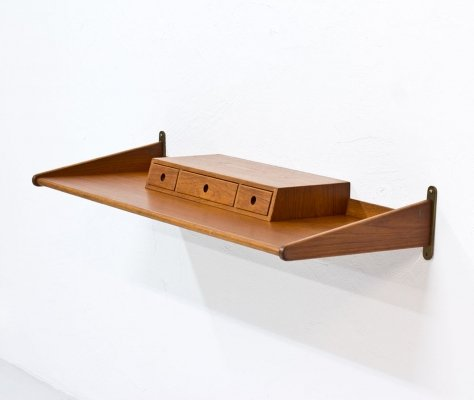 Swedish Teak Wall Shelf by Fredrik 'Figge' Olsson, 1960s