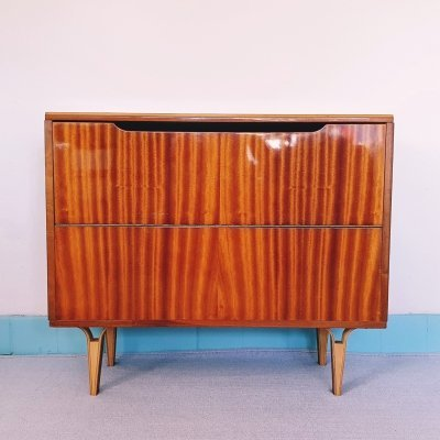 Mid-century vintage lacquered veneered cabinet / blanket box, 1970s