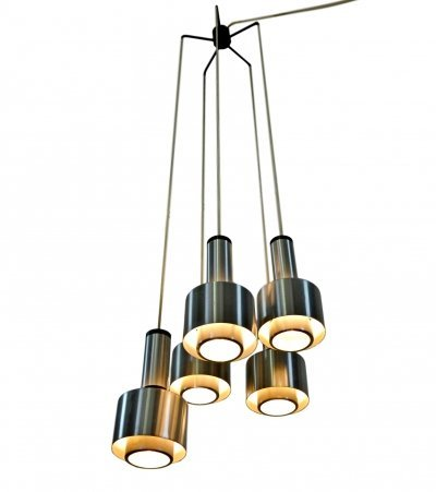 Model 1223 Chandelier by Stilnovo, labeled 1960s