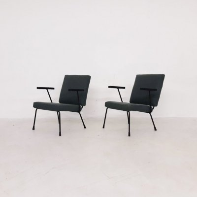 Set of 2 Lounge Chairs Model 1407 by Wim Rietveld & A.R. Cordemeyer for Gispen