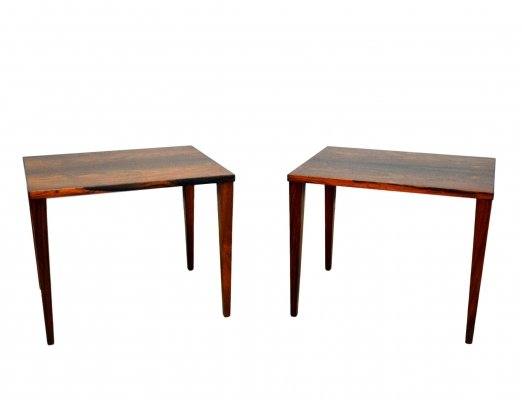 Pair of Danish Rosewood Coffee Tables, 1960s