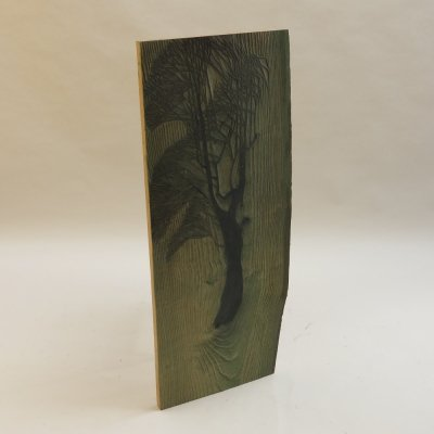 1950s original woodcut carved wooden print block by Pauline Jacobsen