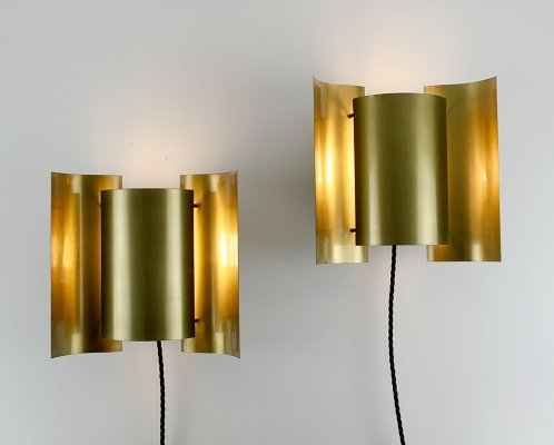 Pair of Sven Ivar Dysthe 'Butterfly' Wall Lamps by Høvik Lys, Norway 1964