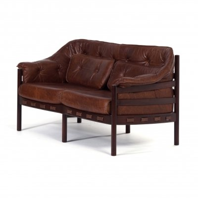 Leather Sofa by Sven Ellekaer for Coja, 1960s