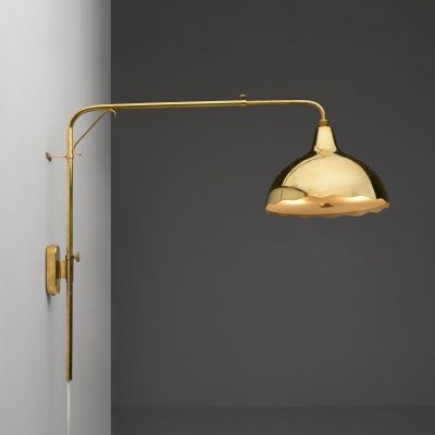 Wall Light by Gunnel Nyman for Idman Oy, Finland 1940s